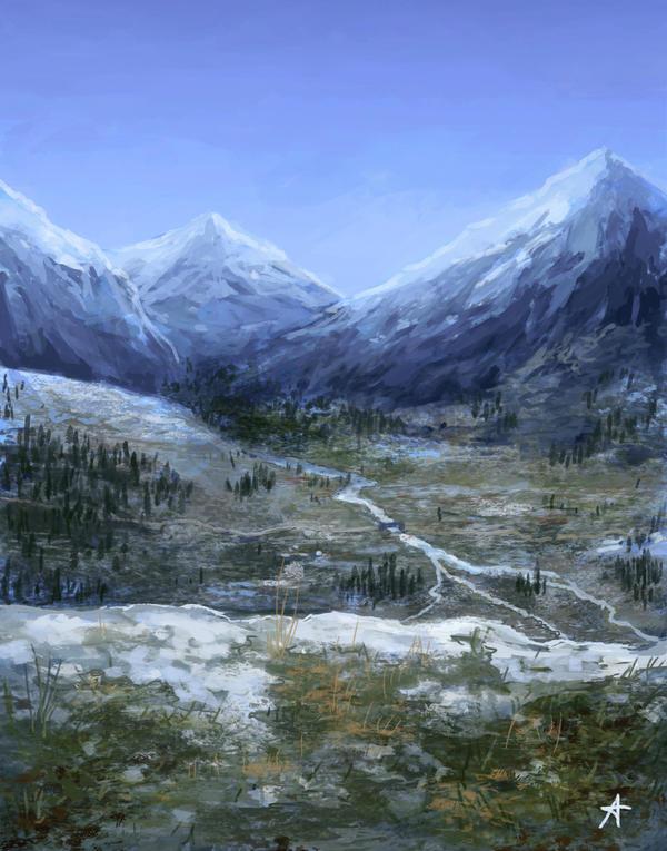 Environment practice - Skyrim by Aerenwyn