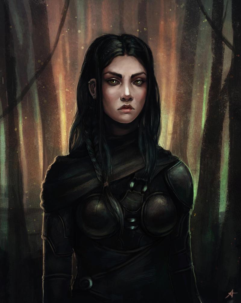 Fantasy portrait by Aerenwyn