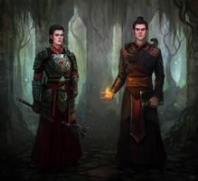 Commission - Cai and Evyn by Aerenwyn