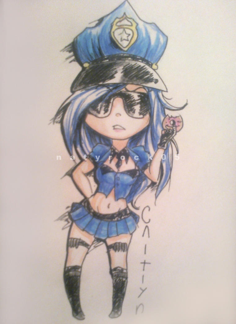 chibi Caitlyn by Zombiezul on DeviantArt