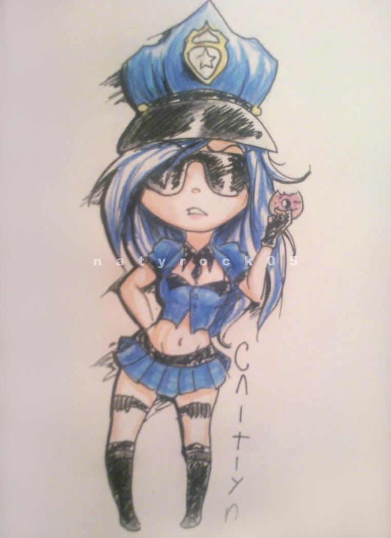 chibi Caitlyn by Zombiezul on DeviantArt
