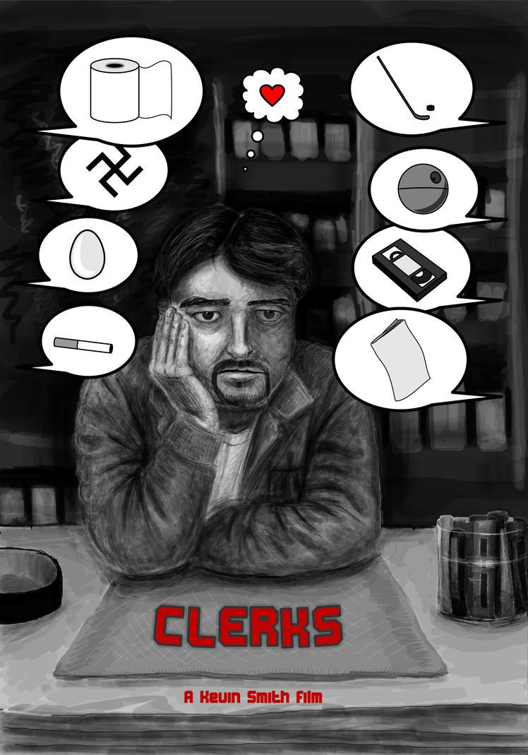 Clerks - movie poster by SailorRipley
