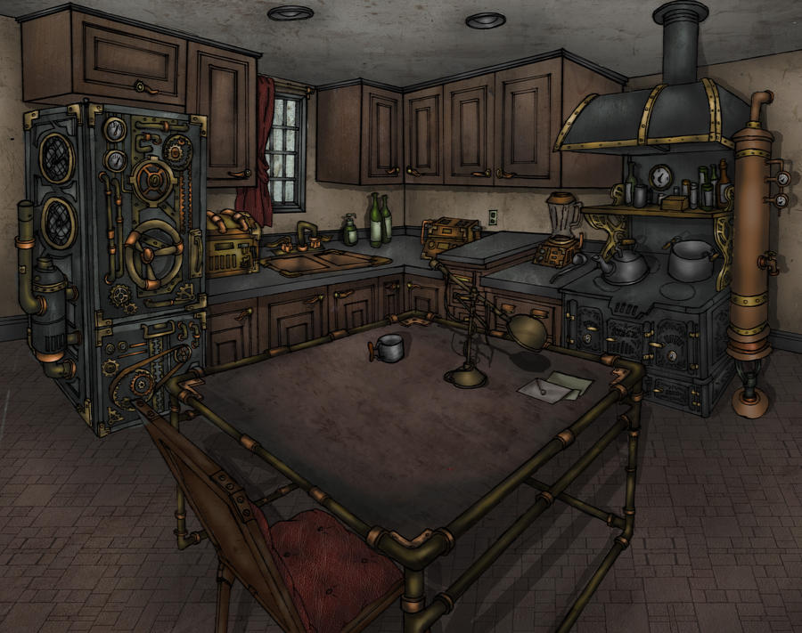 Steampunk Kitchen by Hitsukei ...