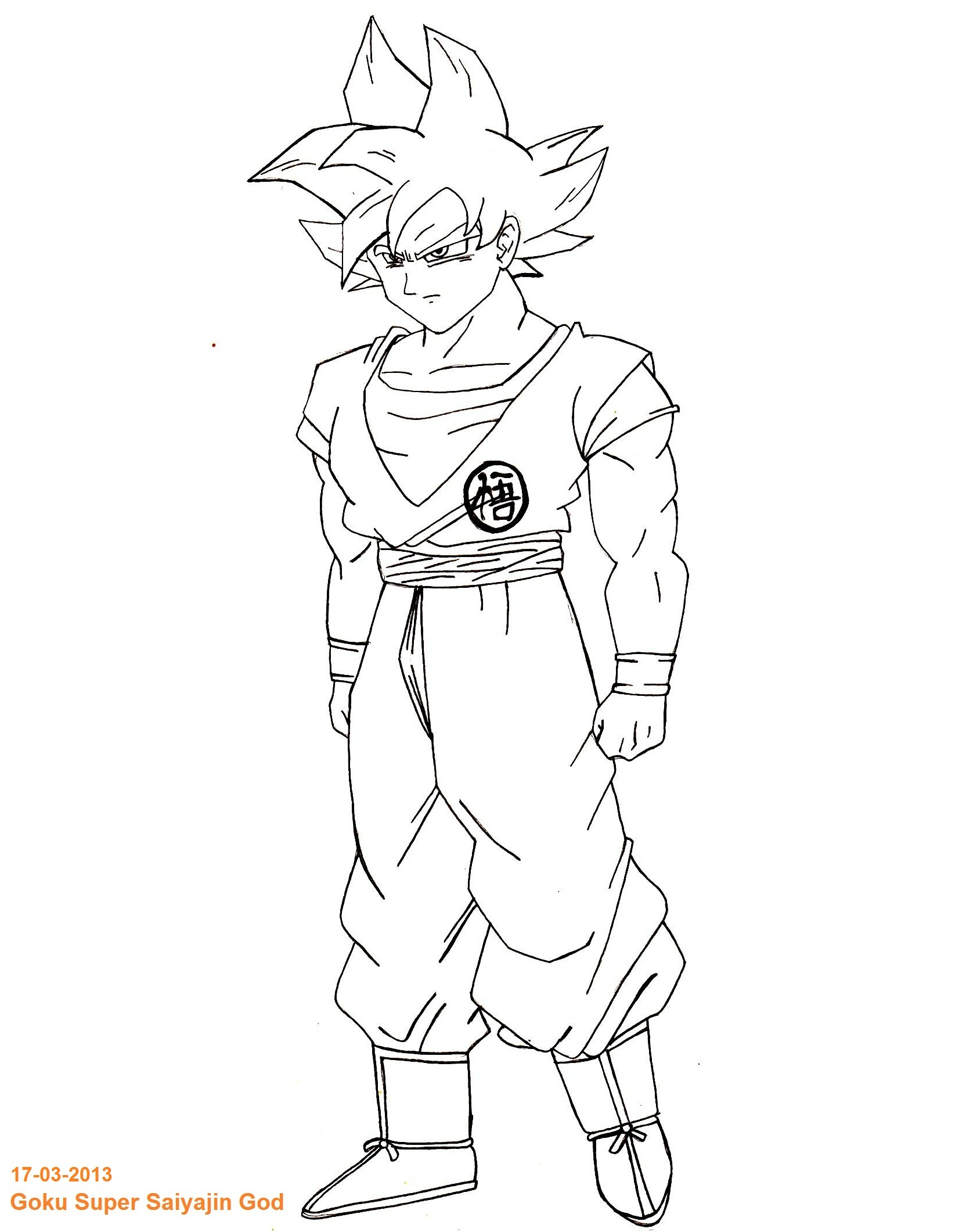 Goku Super Saiyan God By Fher85 Goku Super Saiyan God By Fher85