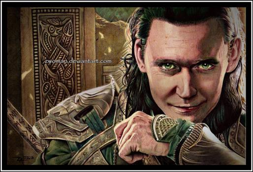 God of Mischief (in biro)