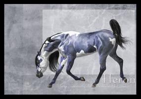 dA Herd-Part2-Heron by QueenOfGoldfishes