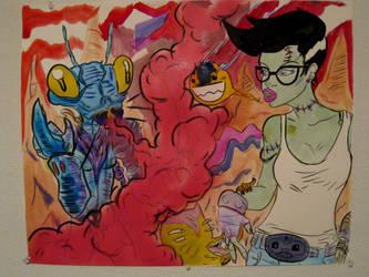 Bugz and Frankensein Girlz by ZOMBIE-BUNNY13