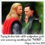 Thor and Loki Interrupted Kiss