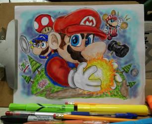 Super Mario SSBWiiU by v-Germs-v