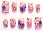 Pink and Purple Fancy Nails