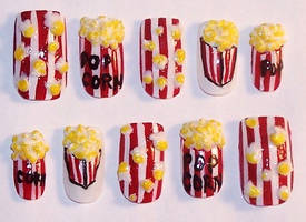 Popcorn Nails by The-Lady-of-Kuo