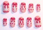 Pink and pink lolita nails