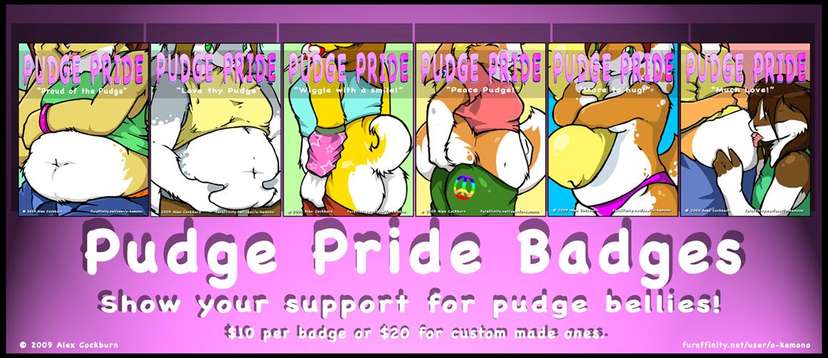 Pudge pride Badges by o-kemono