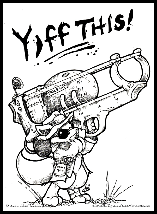 Fallout YIFF THIS by o-kemono