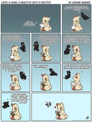 Life's A Chibi: A Negative into a Positive by o-kemono
