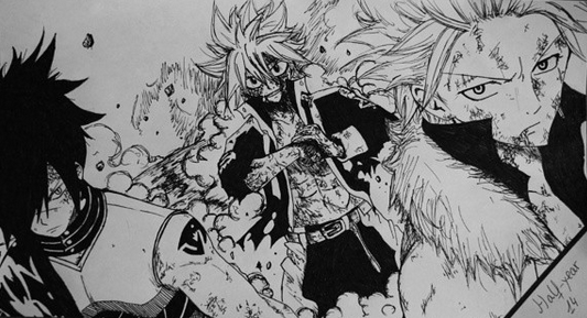 Rogue Sting and Natsu fro Fairy Tail by InkBreeze on ...