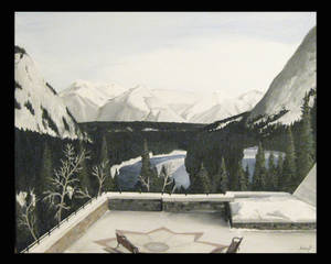 View from the Banff Springs