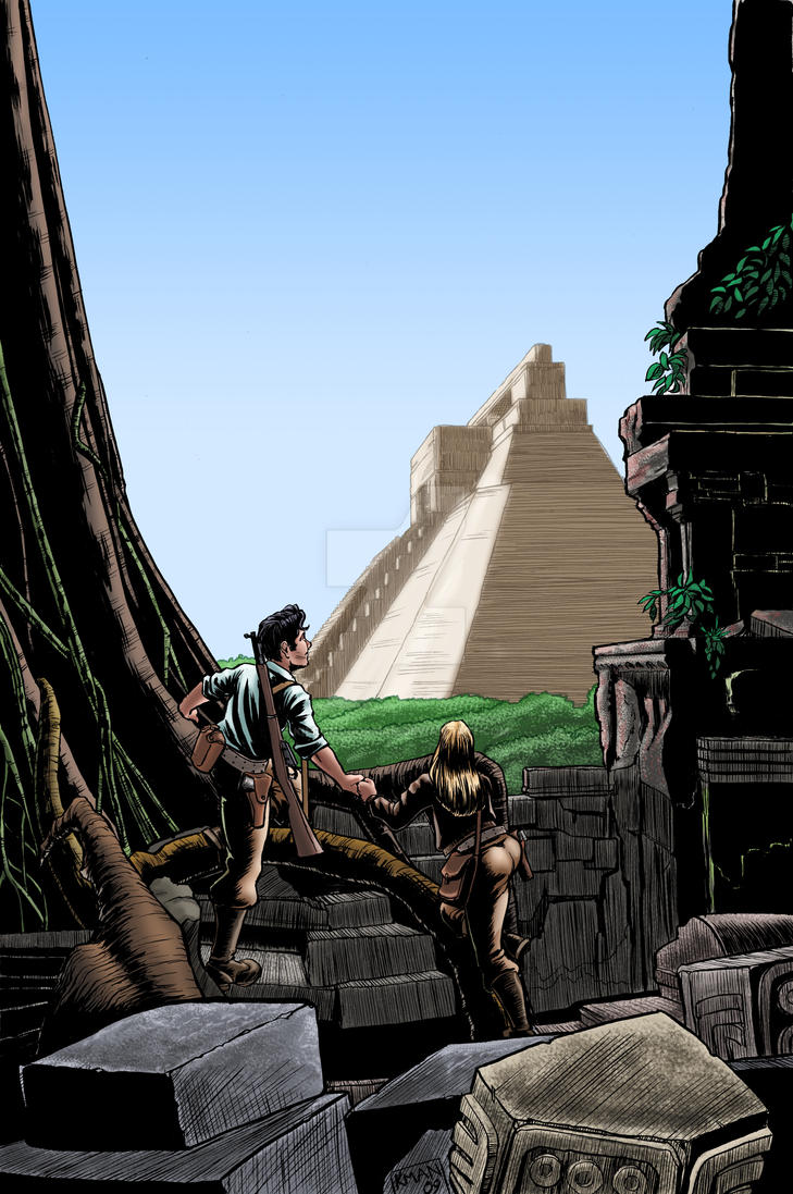 The Temple Coloured by KieronOGorman