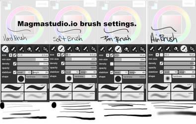 Magmastudio brush settings