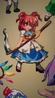 Touhou Character 15 - Komachi Onozuka by MagicPearls