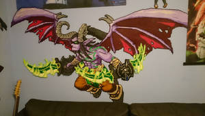Illidan 6 - On the wall by MagicPearls