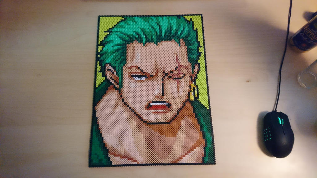 Zoro big portrait by MagicPearls