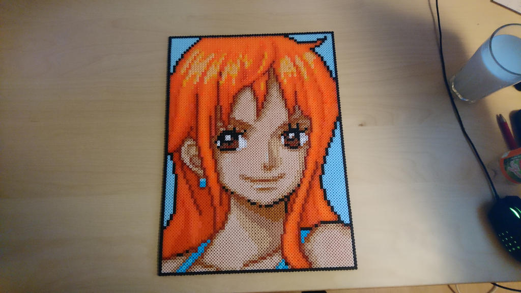 Nami big portrait by MagicPearls