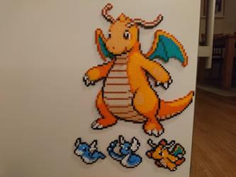 Pokemon #25 - Dragonite + mini evolutions