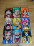One Piece Strawhat crew - big portraits