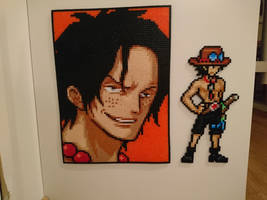 One Piece Character #14. Portgas D. Ace (redone) by MagicPearls