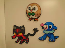 Pokemon #40-42 - Rowlet, Litten and Popplio by MagicPearls