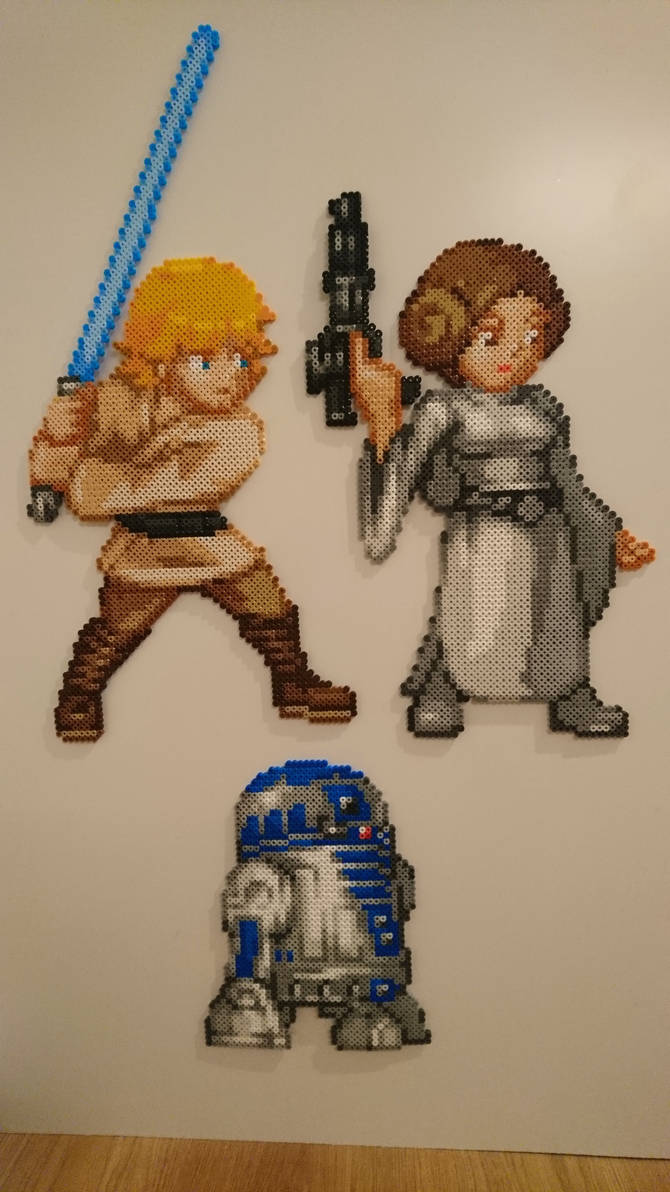 Star Wars 1 3 Luke Skywalker Leia And R2d2 By Magicpearls On