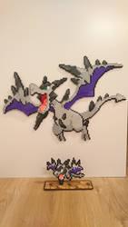 Pokemon #61 - Mega Aerodactyl + mini by MagicPearls