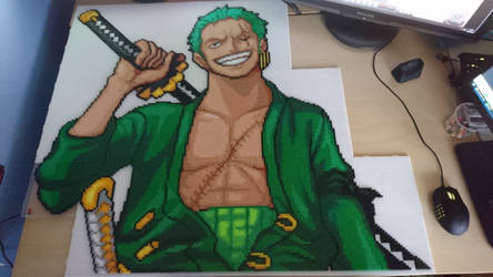Zoro 4 - Just before ironing! (WIP) by MagicPearls