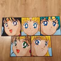 Sailor Moon portraits #1-5
