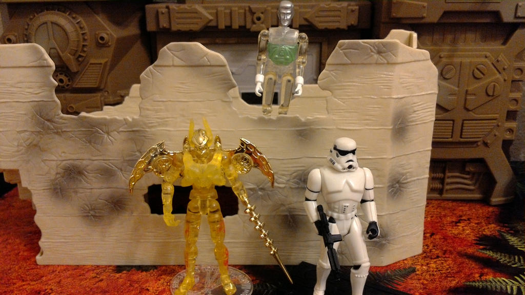 AcroCleve, Microman, and Storm Trooper by wmpyr