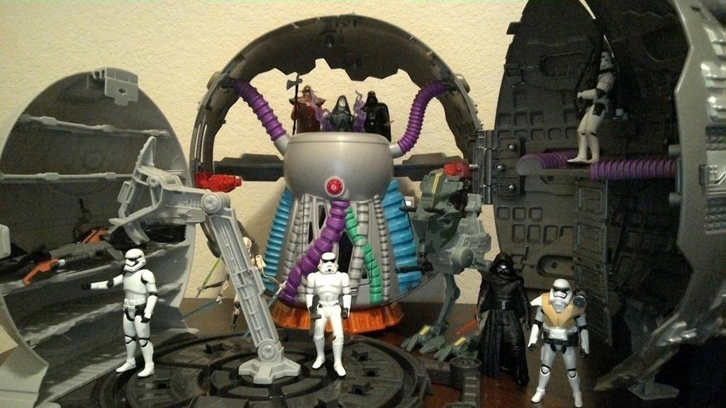 Technodrome and Death Star by wmpyr