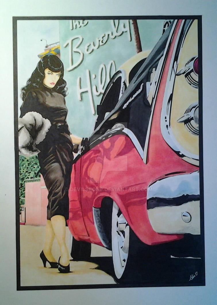 Betty in Beverly Hills. by devilsbone