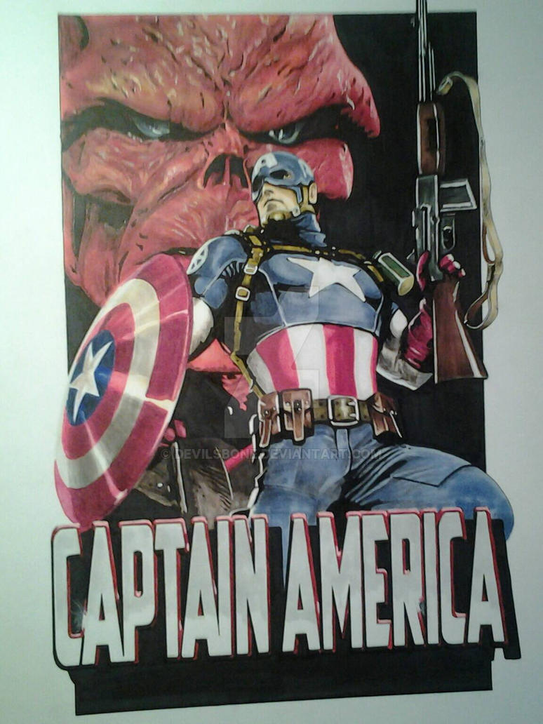 Captain America and the Red Skull. by devilsbone