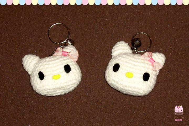 Amigurumi - Hello Kitty Keychains by PurringCakes on ...