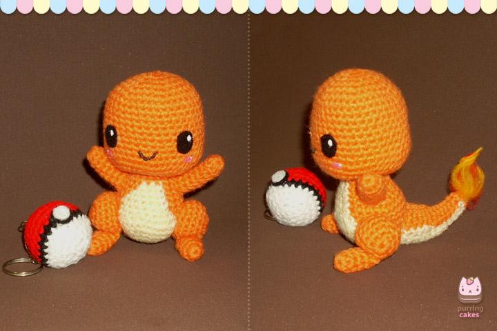 Pokemon Chibi Amigurumi Pattern : Amigurumi - Chibi Charmander by PurringCakes