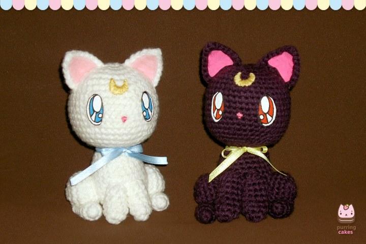 Amigurumi Seilor Moon : Amigurumi - Luna and Artemis by PurringCakes on DeviantArt