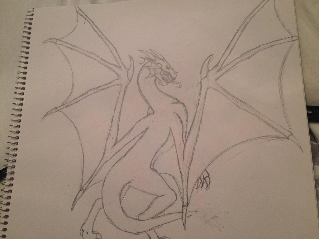 Hell Dragon (Basic layout) by SilverSketch23