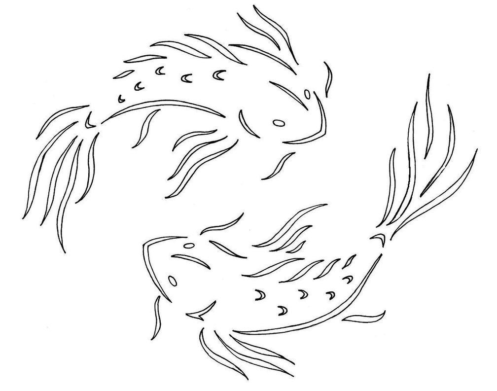 Koi by kuenai on deviantart for Koi fish stencil