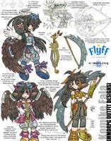 Komike MMORPG Outfit Designs by daaku-no-tenshi