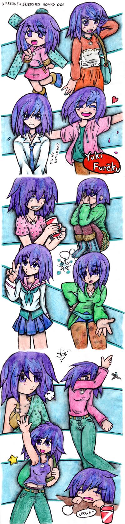 Sketches and Designs 001 by daaku-no-tenshi