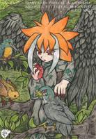 Misato and Birds by daaku-no-tenshi
