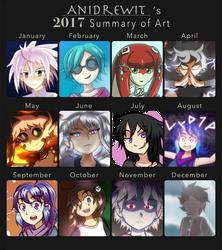 2017 Summary of Art by AniDrewit