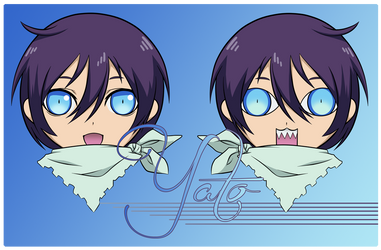 Yato Double Sided Face Charm by DATwinz