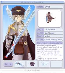 Dreg Character Sheet by Dreg-Exheart